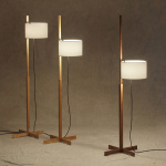 TMM Golvlampa Black Oak/White