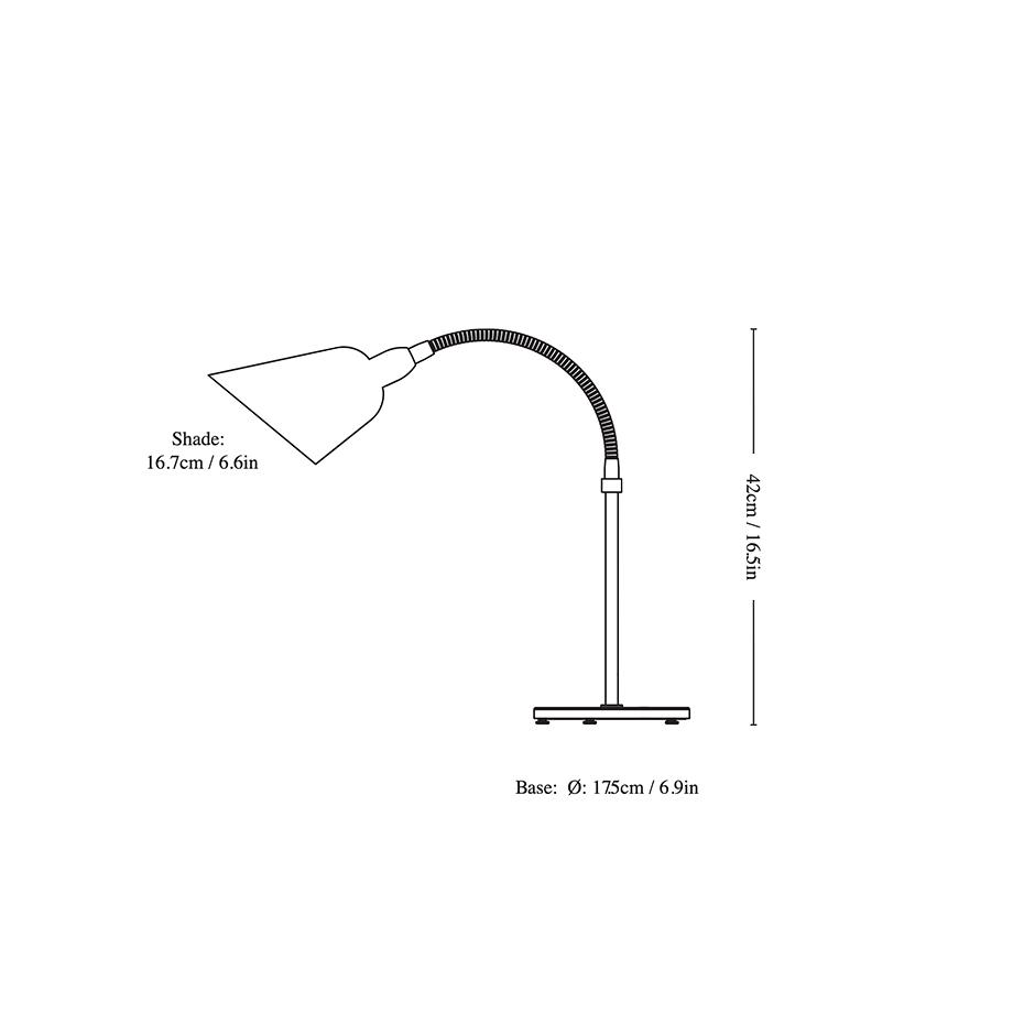 Bellevue Bordslampa AJ8 Black & Steel