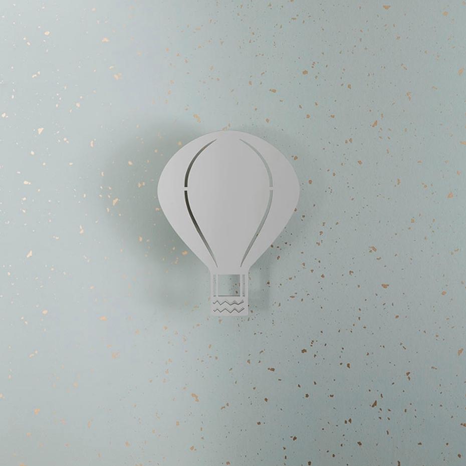 Air Balloon Lamp Vägglampa Rose