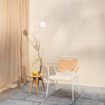 Luna Lamp Pendel Large White