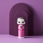 Kokeshi Dolls Elton In Pink Outfit